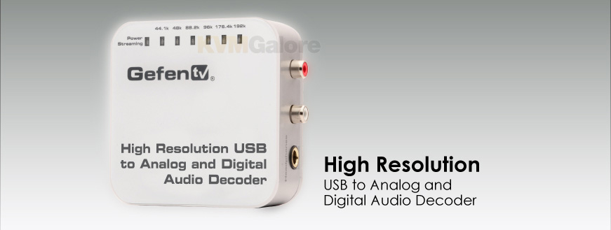 GefenTV High Resolution USB to Analog & Digital Audio Decoder