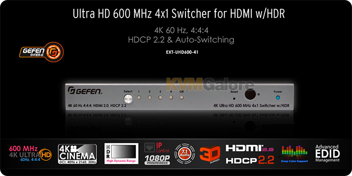 Gefen 4K Ultra-HD 600 MHz full bandwidth AV products