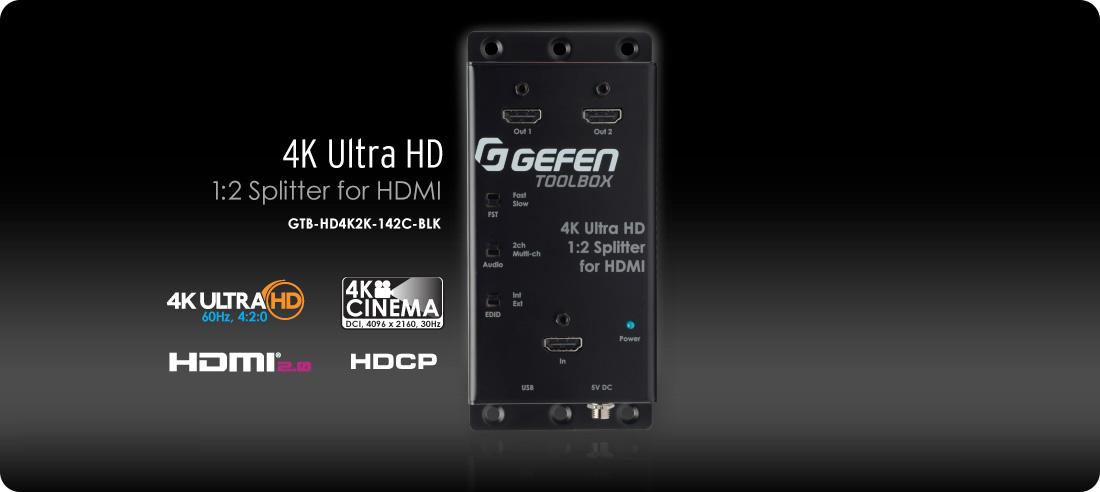 Gefen Toolbox 4k Ultra Hd 1 2 Splitter For Hdmi Gtb