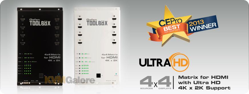 GefenToolBox 4x4 Matrix for HDMI 4Kx2K