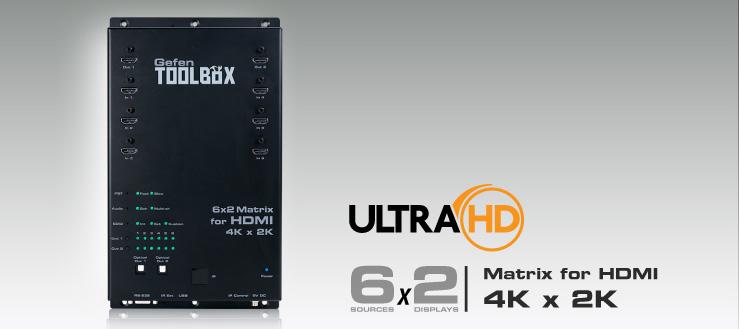 GefenToolBox 6x2 Matrix for HDMI 4Kx2K